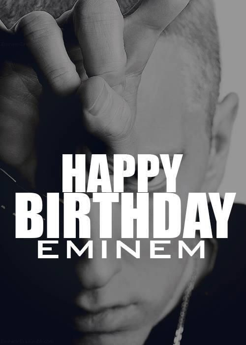 Eminem's birthday 17.10.2013. He is 41!!!