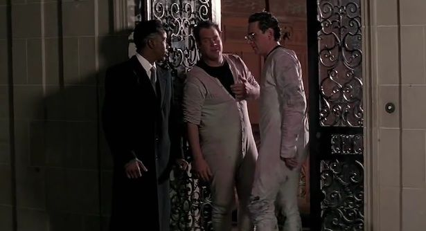 "Bobby Brown, who performs ""On Our Own"" on the soundtrack, is the doorman to City Hall in #Ghostbusters 2 (1989)"