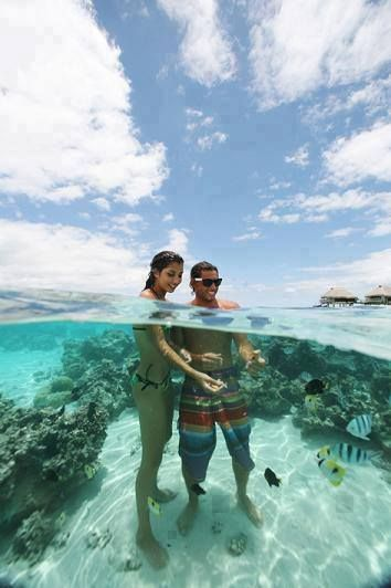 Crystal Clear Water, Bora Bora, French Polynesia