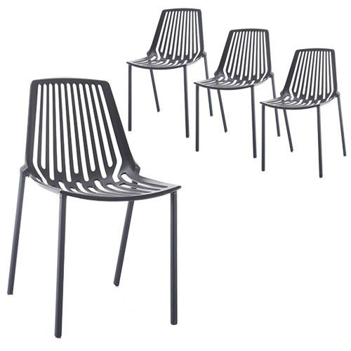 Set of 4 - Hudson Chair - Black