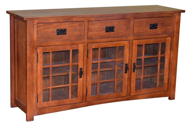 Craftsman Style Solid Oak Sideboard