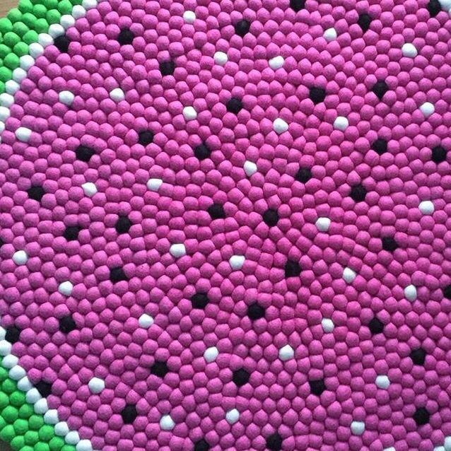 Gorgeous felt ball rug from www.winstonandgrace.com.au! Free worldwide shipping!!!