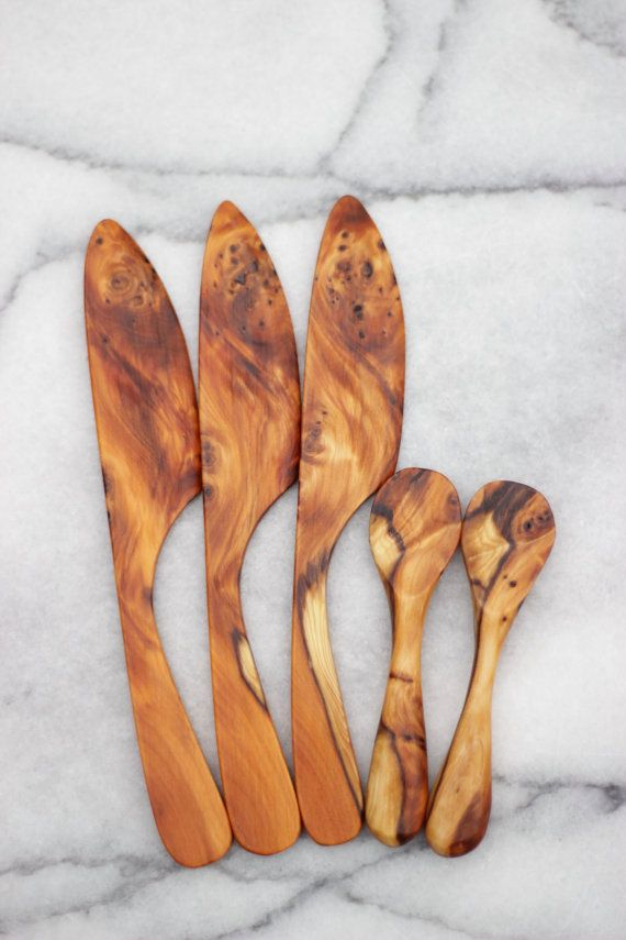 handmade wooden butter knife by rosiethebrewer on Etsy olive wood