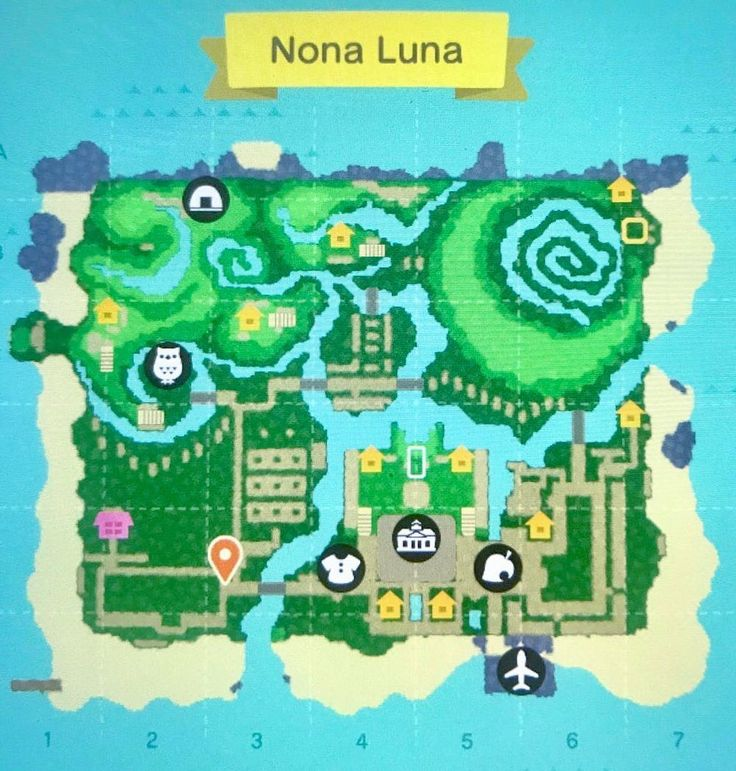 """Animal Crossing Inspiration on Instagram """"Map layout"""