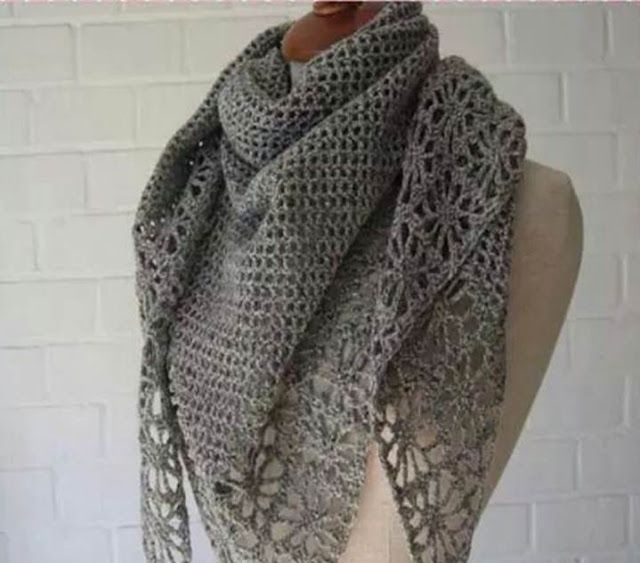 Three beautiful and charming crochet shawls on to stay warm and graphic. - Crochet Designs Free