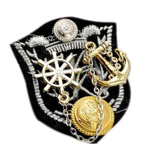 Ship Anchor Epaulet Brooch Fashion