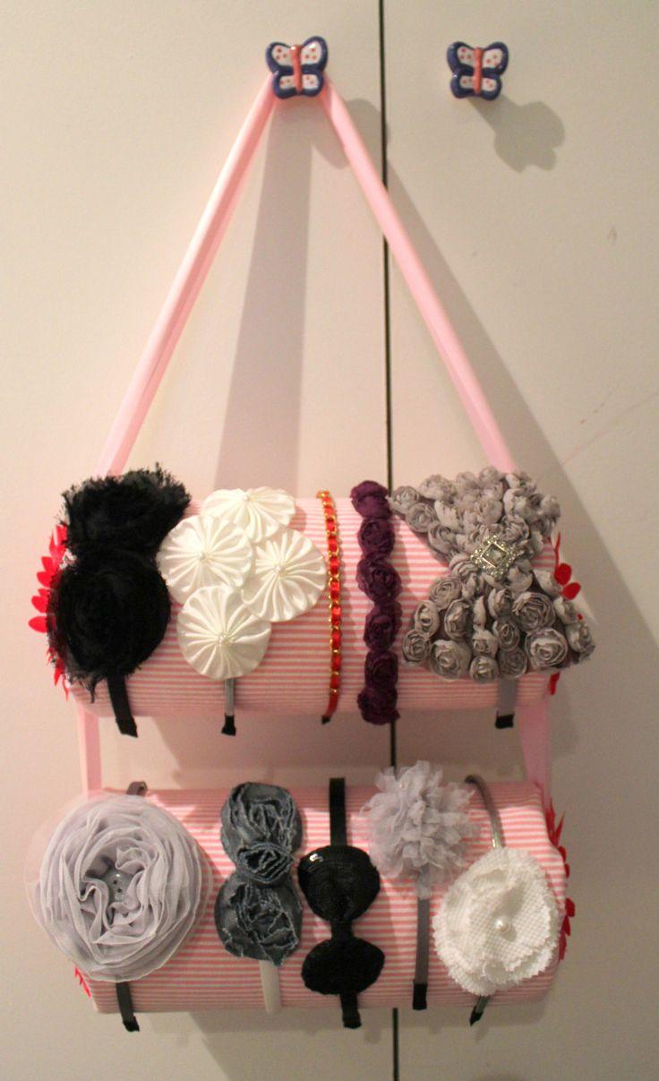 Organizador para diademas  -  diy headband holder