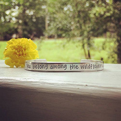 Handmade You belong among the wildflowers -Tom Petty quote bracelet