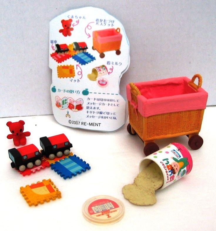 Rement Miniatures Puzzle Mat Train Bear Milk Dollhouse Set Baby Articles 2007 | Dolls & Bears, Dollhouse Miniatures, Other Dollhouse Miniatures | eBay!