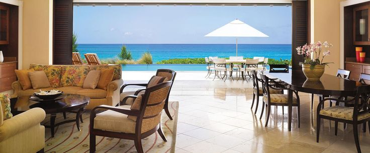 One of the Villa Residences at One and Only Ocean Club, Bahamas. I'd love to go here just to  relax and enjoy that view from my villa!