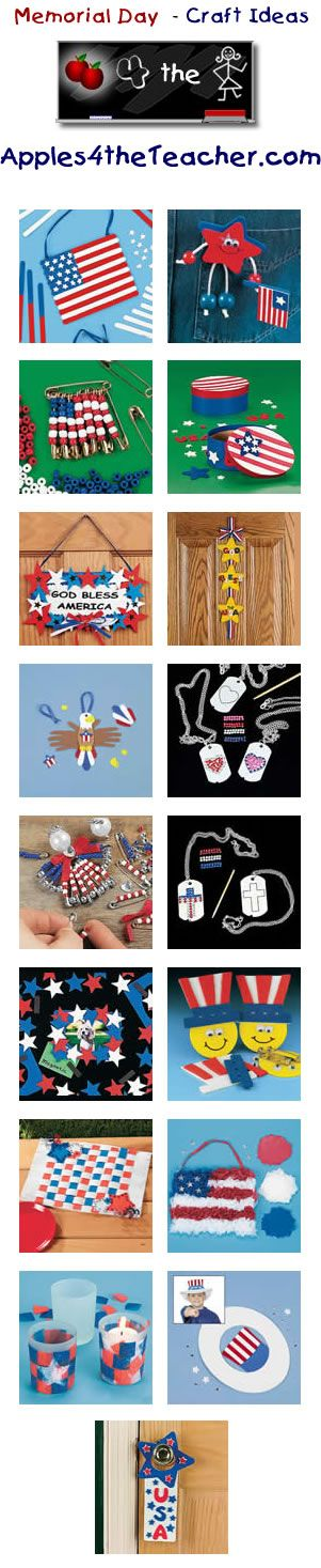 Fun Memorial Day crafts for kids - Memorial Day craft ideas for children.   www.apples4thetea...