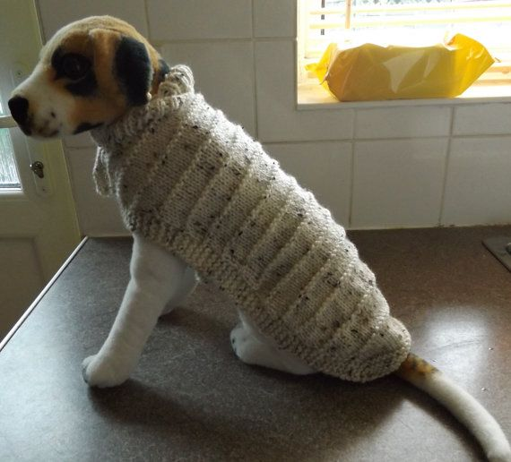Hand Knitted Dog Coat Dog Sweater Hand Knitted Aran by DollysKnits
