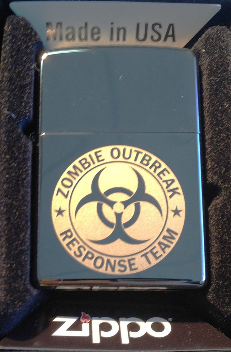 Zippo Custom Lighter - Biohazard Toxic Seal Zombie Outbreak Response Team Logo Black ICE High Polish Chrome Rare! ** Check out this great product.