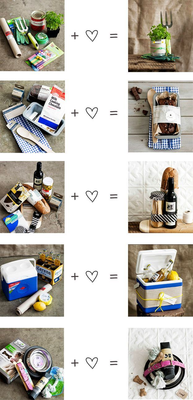 Gift basket ideas - Gardening, chocolate loaf, bread/wine, cooler/beach kit, new dog!
