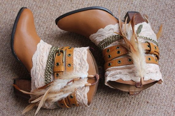 Brilliant boots by Karin Kirsten.  Reworked leather cowboy boots by rougepony on Etsy, £100.00