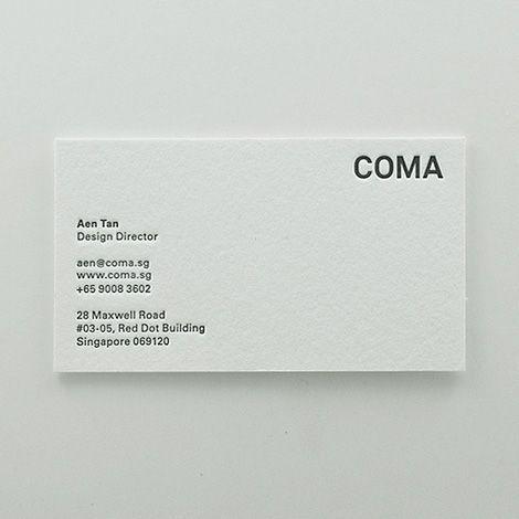 Minimal, modern business card design