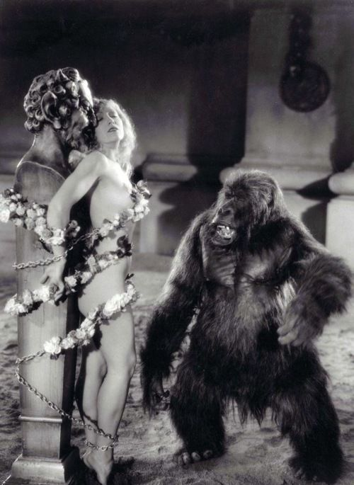 """Notable moments in pre-Code Hollywood: The Sign of the Cross(1932), in which Cecil B. DeMille re-created in sadistic detail the excesses of the """"Arena Games"""" in Nero's Rome.  Highlights include  Amazonian women beheading pygmies, and sexy Christian martyrs getting served up to crocodiles"""