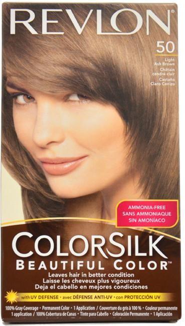 Unisex Revlon colorsilk Beautiful Color #50 Light Ash Brown Hair Color