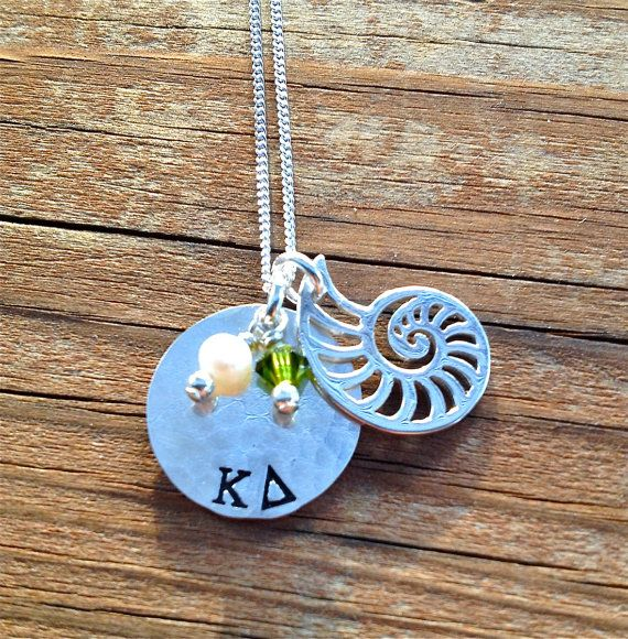 Kappa Delta Sorority Nautilus Shell Necklace by TomisTreasures, $47.00
