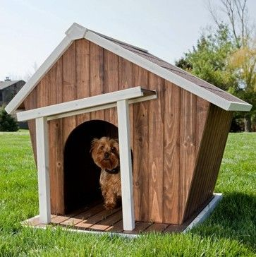 What an unique doghouse! Perfect little dwelling for a dog. #dog #doghouse #doggiehouse