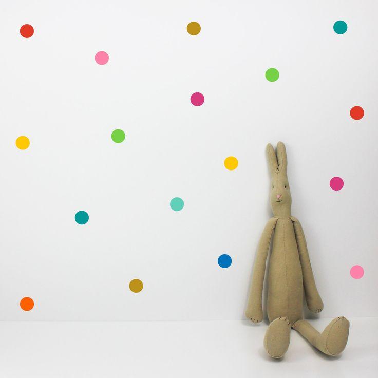 Dot Multicoloured Wall Stickers – Bobby Rabbit