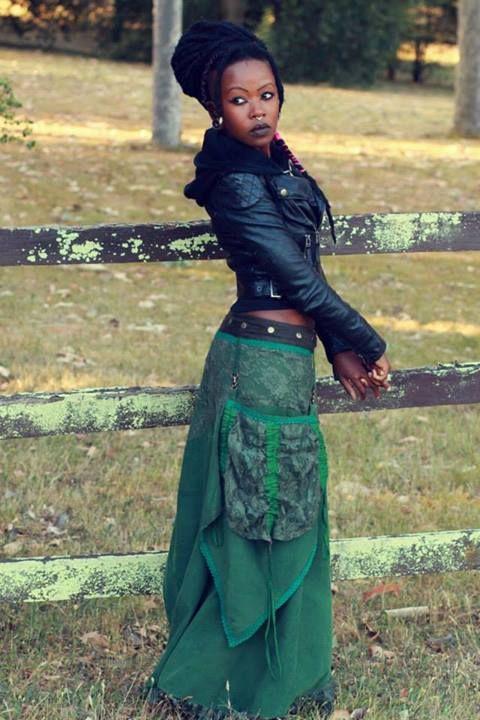 Manaka~ .: Fairy Maxi Length Skirt with Detachable Pocket :.