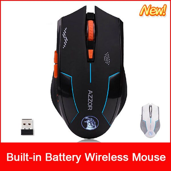 USB Laser Built-in Recharge with cord wireless mouse