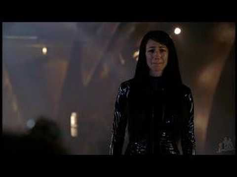 Aeryn returns...but she's dying.  Farscape.
