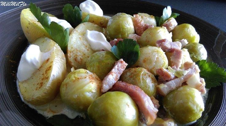 Choux de Bruxelles et lardons cuisiné au multicuiseur Philips