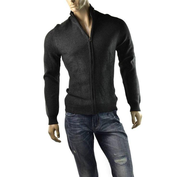 http://stores.ebay.com/ImageStudio714 | Calvin Klein Sweater Jacket Mens Cardigan Shirt Jumper CK Jeans Size XL $79 NEW #CalvinKlein #FullZip