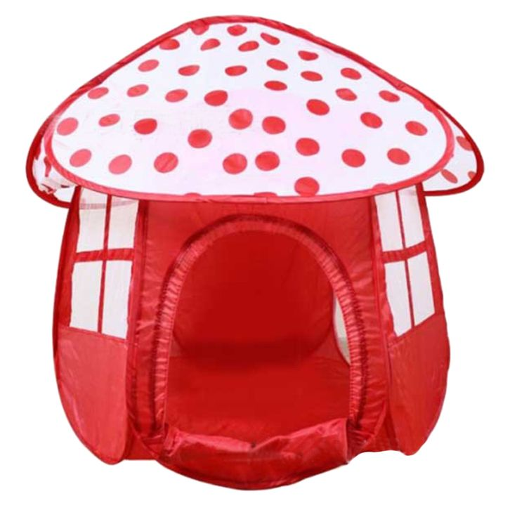 Portable Red Children Kids Play Tents Outdoor Garden Folding Toy Tent Kids Girl Mushroom Shape Outdoor House Kids Game Tent
