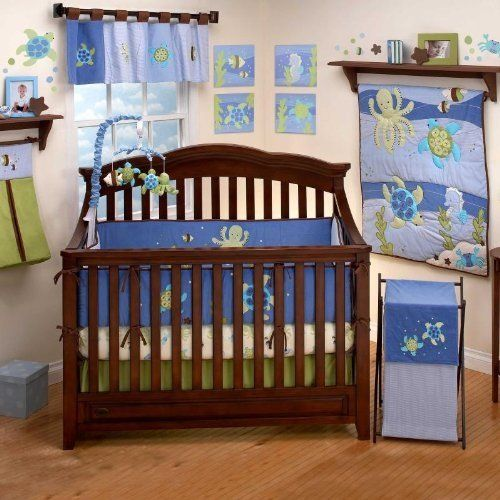 Sea Babies by Nojo 6 Piece Baby Crib Bedding Set