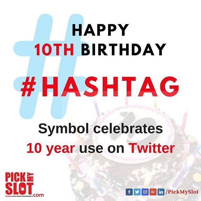 """It's 10 years since it was first used to tag or categorize a tweet.  #Hashtag #Hashtag10 #10YearsOfHashtag #Twitter #Tweet #Birthday  #Tag #Tags #Mention #Link #Internet #Web #SocialMedia #pickmyslot #DigitalMarketing #2007 #10"" by @pickmyslot. #myazariamakasar #myazariajakarta #peluangusaha #testimonimyazaria #networkmarketing #myazariasurabaya #peluangbisnis #myazariaindonesia #myazariahongkong #affiliatemarketing #makemoneyonline #mci #inbound #salesfunnel #listbuilding #webmarketing…"