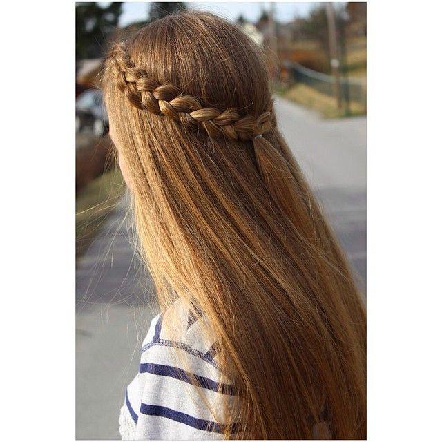 """Two Dutch braids tied back! ☀️ #prettyhairstyleess"" Photo ..."