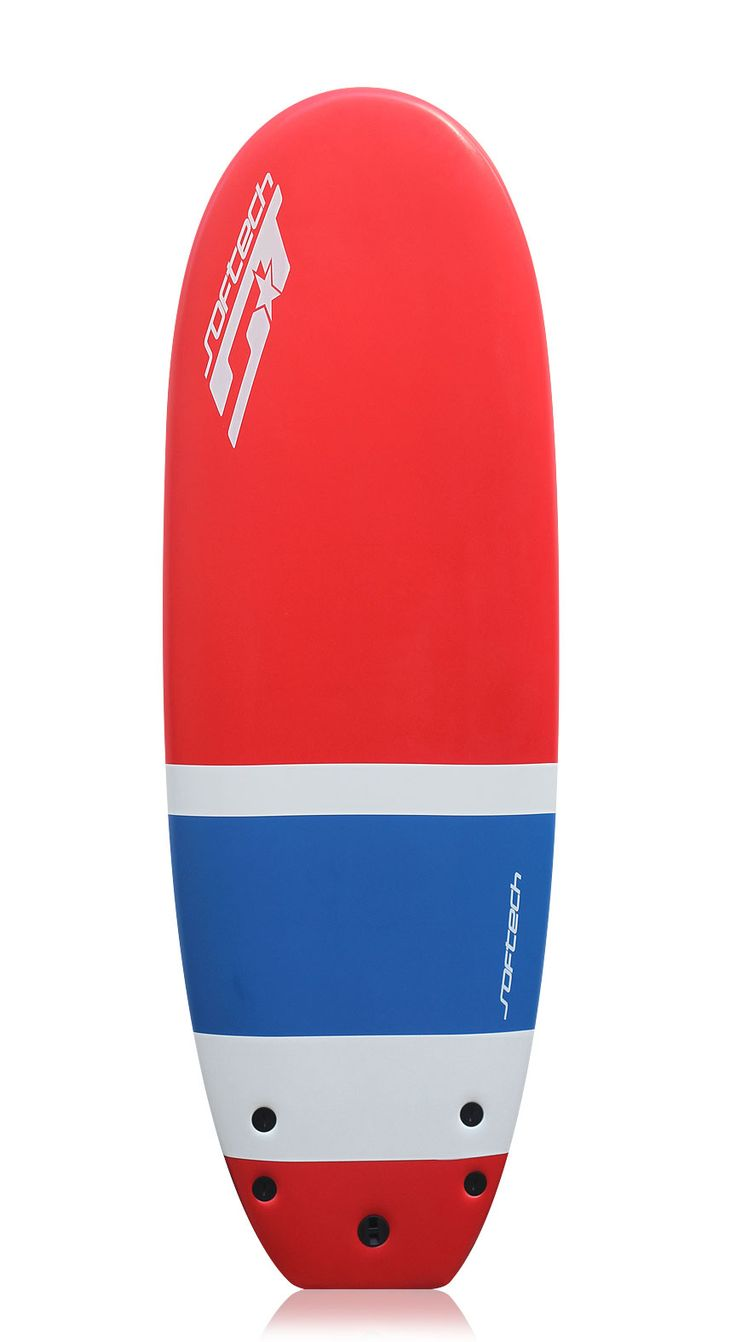 "Softech 5'4"" Inner City Beater Foam Surfboard Red/White"