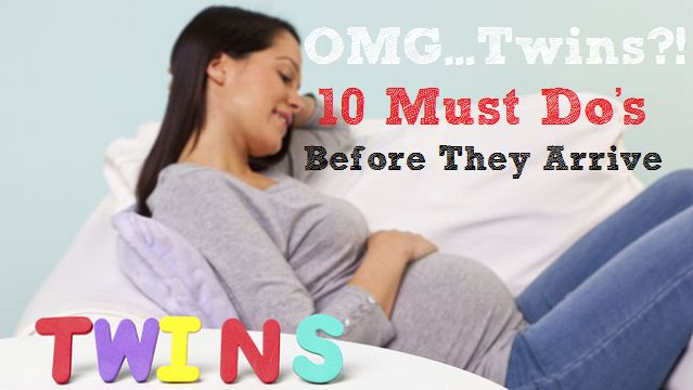 OMG…Twins?! 10 Must Do's Before They Arrive http://www.momvelous.com/omgtwins-10-must-dos-before-they-arrive #twins #pregnancy