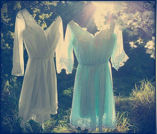 Maiden mismatched vintage bridesmaid dresses   Vintage Bleu