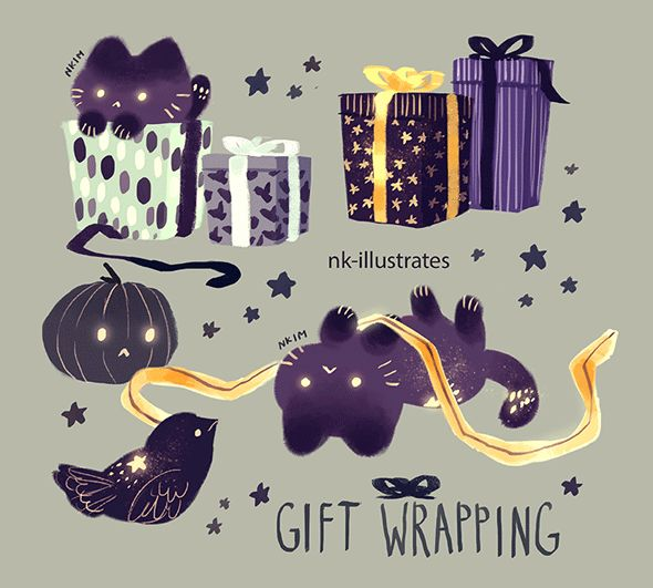 Witch & Melon © 2016 Nadia Kim Series of illustrated gifs ...