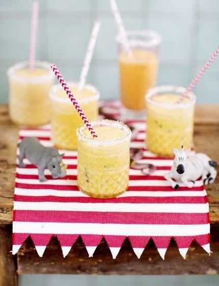 banan smoothie, barnkalas, recept, smoothie