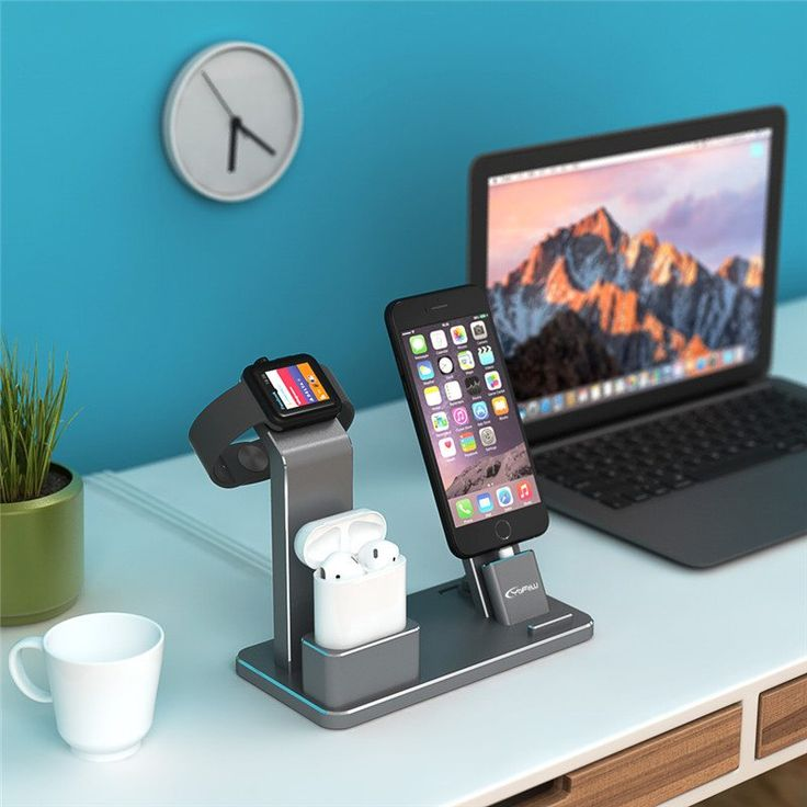 YFW Stand for Apple Watch 4 in 1 AirPods Accessories Charging Dock Phone Holder for iWatch Series 2/1/iPhone 7/7Plus/6s Plus/5s //Price: $48.00//     #shopping