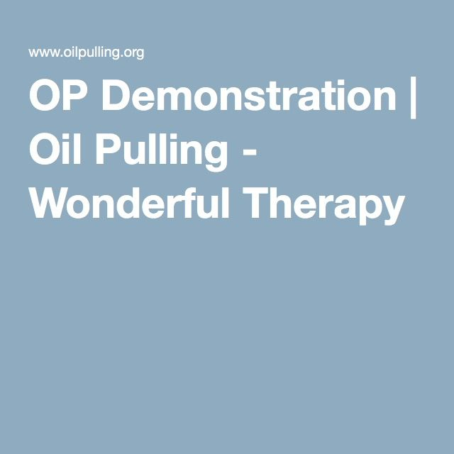 OP Demonstration | Oil Pulling - Wonderful Therapy