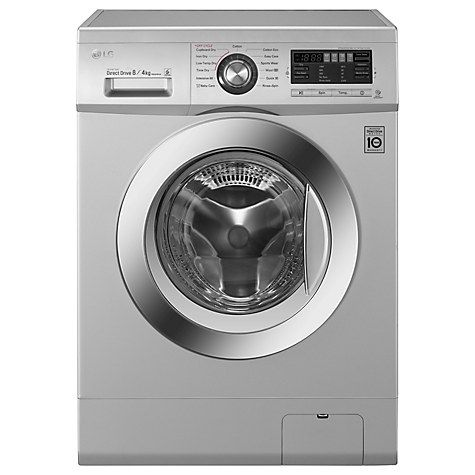 Buy LG F1496AD5 Freestanding Washer Dryer, 8kg Wash/4kg Dry Load, B Energy Rating, 1400rpm Spin, Silver Online at johnlewis.com