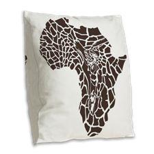 Africa in a giraffe camouflag Burlap Throw Pillow