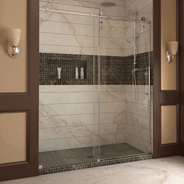 Shower enclosure glass with sliding doors – 4 modern shower cubicles | Room Decorating Ideas