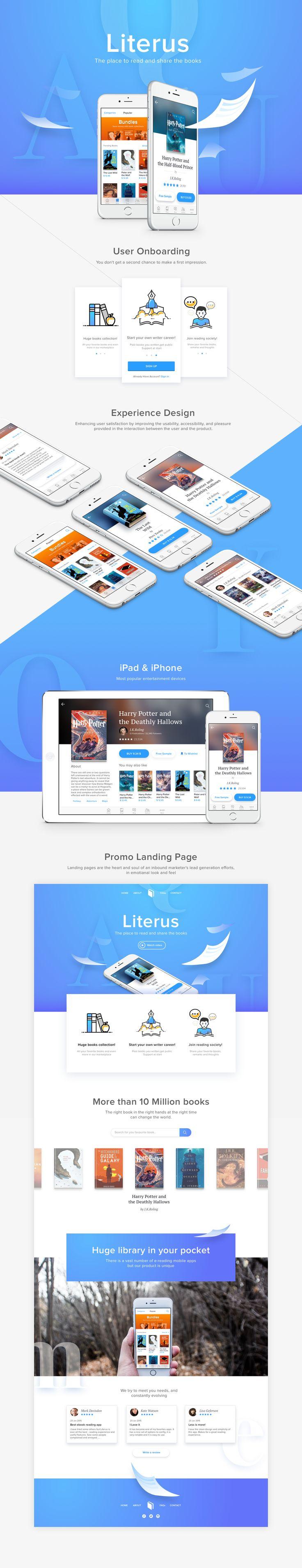 Literus App - UX/UI Concept on Behance