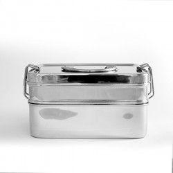 Eco Brotbox Edelstahl Brotbox XL Double #ecobrotbox #gingerundjune #brotboxxl #edelstahl #brotbox #aufbewahrungsdose
