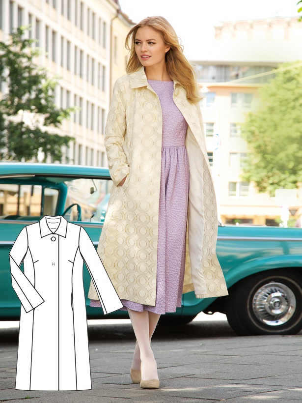 TOUCH esta imagem: Download this coat pattern by BurdaStyle Admin
