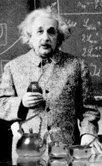 Albert Einstein drinking Yerba Mate