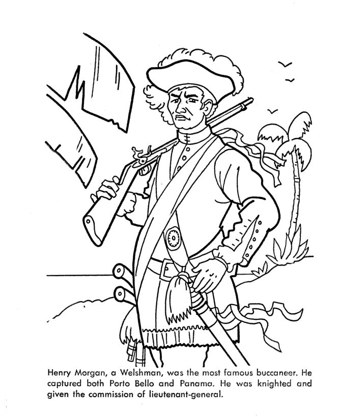 famous pirates coloring pages - photo#7