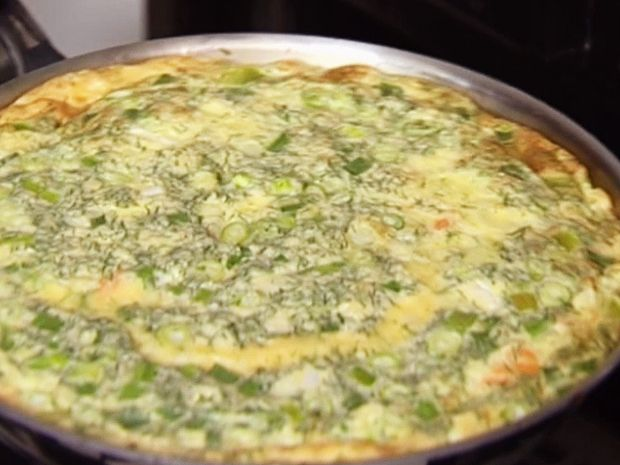 Smoked Salmon Frittata from FoodNetwork.com - not a huge fan of salmon, but i like the idea!  Maybe bacon, onion, cheese....